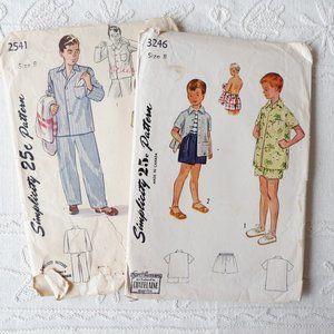 50s Simplicity Patterns: Pajamas, Short and Shirt